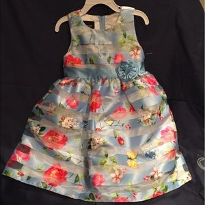 Other - Toddler Girl Blue flowers Party Dress